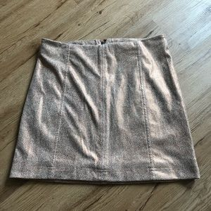 Bronze Free People Faux Suede Mini Skirt